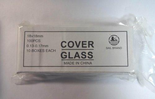 Microscope Glass Cover Slips 18*18 Mm 10 Box Of 100 Pcs