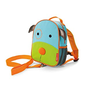 Skip Hop Zoo Safety Harness, Blue Dog, 1-4 Years