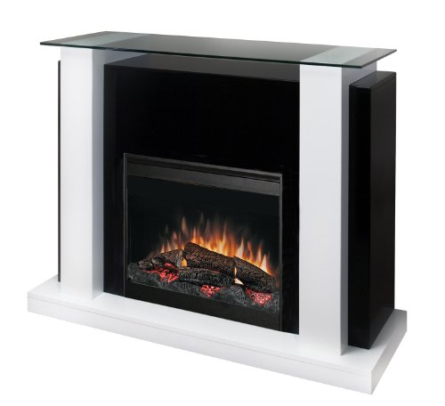 Dimplex Bella Electric Fireplace with 26 Inch Self-trimming Firebox, White and Black, EMP6856GB picture B003WOKVTQ.jpg