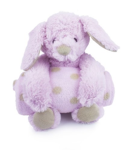 Animal and Blanket Toy and Blanket,Pink Bunny