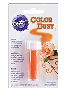 Wilton 703-104 Color Dust Food Decorative, Orange