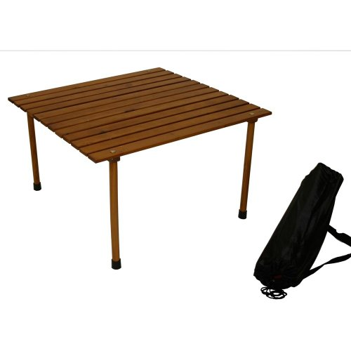 Table in a Bag W2716 Portable Table with Carrying Bag, Brown
