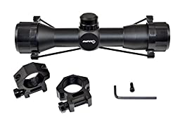 SNIPER® Compact Rifle Scope 4x32 Rangefingder reticle with Rings