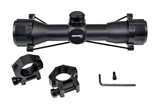 SNIPER Compact Rifle Scope 4x32 with Ring, Hunting Scope (Ar15 Quad Rail 3 Piece compare prices)
