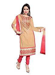 Jinal Fashion women's Unsitched dress material (Chikku_color)