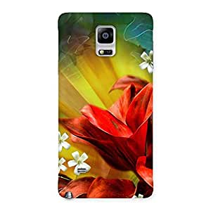 Beauty Flowers Print Back Case Cover for Galaxy Note 4