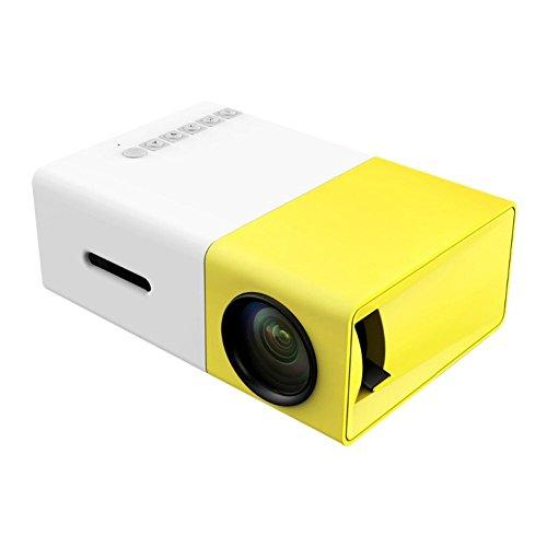 BABADIO Portable Micro/Mini Full HD Home Media Player Cinema Theater DVDs HDMI VGA USB AV LED 60″ Projector with Remote Control.Idea for Child Gifs