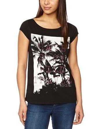 Rip Curl Palmy Women's T-Shirt Solid Black Medium