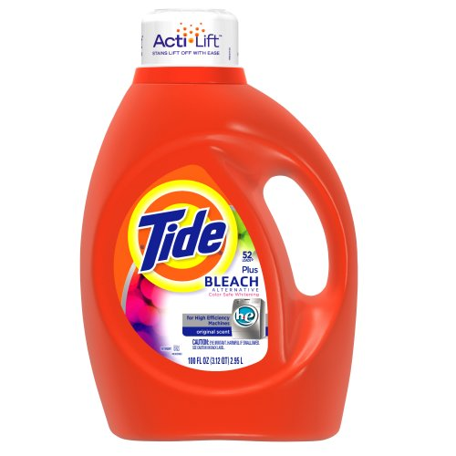 Tide with Bleach Alternative, HE Original Scent with Actilift, 100-Ounce Bottles (Pack of 4)