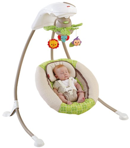 Fisher-Price Deluxe Cradle 'n Swing, Rainforest Friends (Fisher Price Swing Girl compare prices)