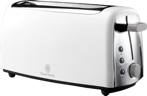 Russell Hobbs 14920 4-Slice Long Slot Toaster in White from RUS