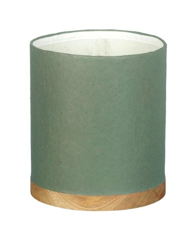 Green Paper Garden Planter / Pot With Wooden Base H190 x 170mm