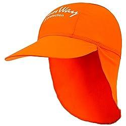 SunWay Baby Kids Girls Boys Orange Legionnaire Hat Cap UV protective (UPF 50+) (Kids 2-7 years)