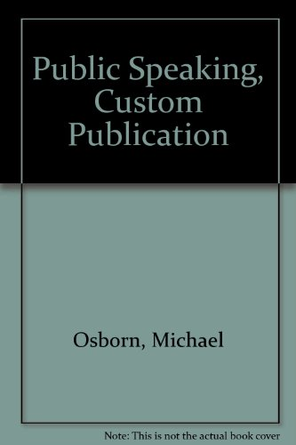 Public Speaking, Custom Publication