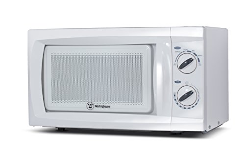Westinghouse WCM660W 600 Watt Counter Top Rotary Microwave Oven, 0.6 Cubic Feet, White (Microwave Oven Small compare prices)