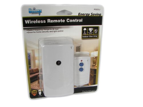 Rf Wireless Indoor Remote Controlled Electrical Power Outlet Plug Switch Socket For Lights Lamps Up To 80Ft Range
