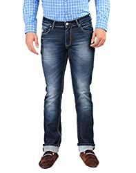 Oxemberg Men's Slim Fit Denim (HL7676_MID BLUE_38)