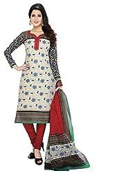 Komal arts EthnicwearWomen's Dress Material(KOMALSPL6002_Off-White_Free Size)