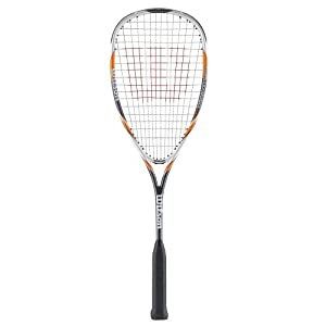 Wilson H145 Squash Racquet - White/Yellow/Grey, 27 Inch