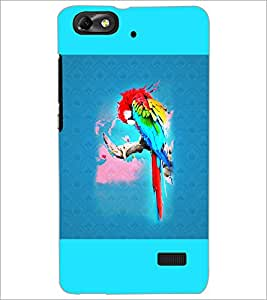 PrintDhaba Parrot D-5964 Back Case Cover for HUAWEI HONOR 4C (Multi-Coloured)