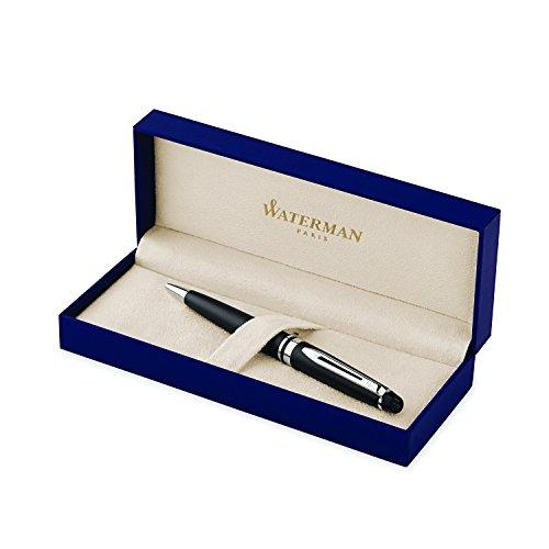 waterman-s0951900-expert-kugelschreiber-strichstarke-m-mattschwarz-mit-palladiumzierteilen-blaue-tin
