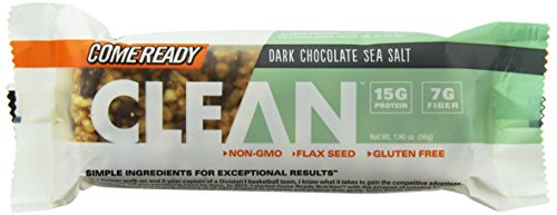 Come Ready Sea Salt Tray, Dark Chocolate, 12 Count (Come Ready Protein Bars compare prices)