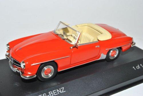 Mercedes-Benz 190SL Cabrio Rot W121 1955-1963 1/43 Whitebox Modell Auto