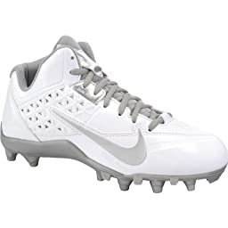 New Nike Men\'s Speedlax 4 Football Cleat White/Silver 8