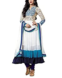 Moradiya Fashion Women's Georgette Unstiched Dress Material-HS-DR-009_Blue