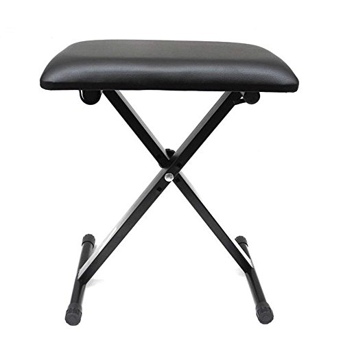 Lowest Prices! Hotouch Adjustable Piano Keyboard Bench Leather Padded Seat Rubber Feet Stool Chair