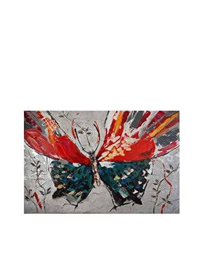 Arte Dal Mondo Panel Decorativo Paolo Rossini Farfalla
