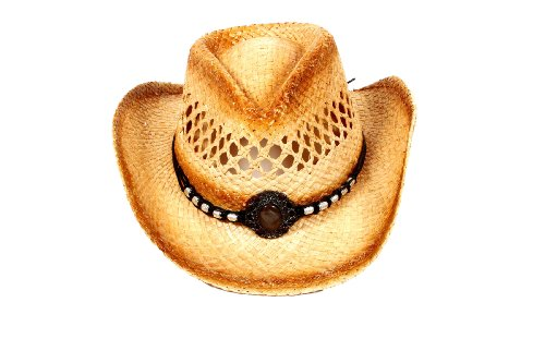 Simplicity New 2-Tone Woven Kids Cowboy Hats Caps Hot Vented Western Straw Hat