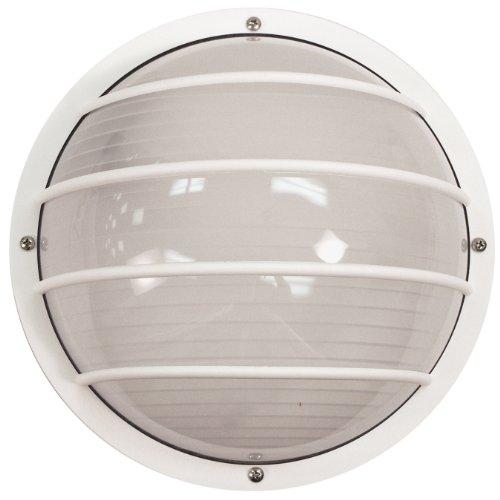 Sunlite 49006-SU LFX/DOD/EL/WH/FR/40K Decorative Outdoor LED Eurostyle Linear Polycarbonate Fixture, White Finish, Frosted Lens