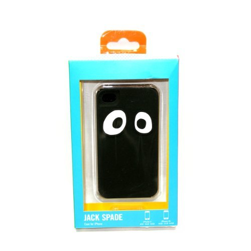 Jack Spade IPhone 4 Case Premium Silicone Black Googly Eyes For Apple Iphone 4/ 4S (Black) #PYRU0292 (Jack Spade Iphone 4s Case compare prices)