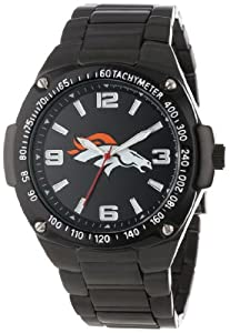 Game Time Unisex NFL-WAR-DEN Warrior Denver Broncos Analog 3-Hand Watch by Game Time