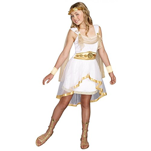 GSG Greek Goddess Costume Tween Kids Halloween Fancy Dress (Plus Size Greek Goddess Costume)