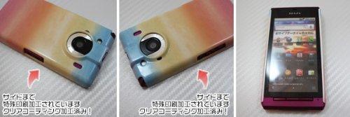 [docomo REGZA Phone T-01C専用]特殊印刷ハードカバー クリアコーティング仕上げ[750(水彩(レインボー)]