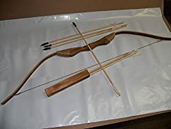 Sgs Wooden Bow Set With 10 Arrows