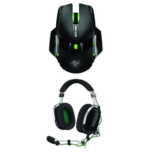 Razer Ouroboros Elite Ambidextrous Gaming Mouse And Blackshark Noise Isolating Headset