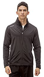 (AL003) AeroskinDry Mens Active Lifestyle Jacket in Black / Black Size: L