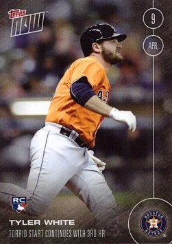 2016 Topps Now Baseball #11 Tyler White Rookie Card Houston Astros - His 1st official Rookie Card - Only 1,350 made!