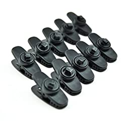 E-TING 10pcs Cable Wire Lapel Clip Organizer Rotate Mount for Lavalier Headphone Earphone