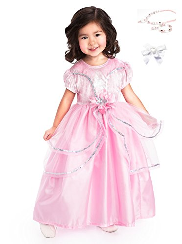 Little Adventures Pink Princess Dress with Necklace, Bracelet & Hairbow Age 5-7