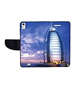 KolorEdge Printed Flip Cover For Gionee Elife S5.5 Multicolor - (50KeMLogo09714GioneeS5.5)