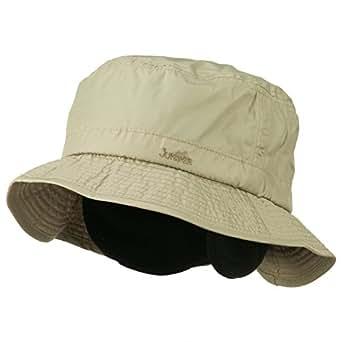 Mens UV 50+ Fleece Lined Bucket Hat - Khaki at Amazon Men ...