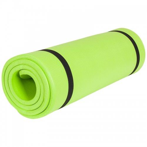 Gorilla Sports-Tappetino da yoga, Yogamatte in verschiedenen Farben und Größen, Verde lime, 190 x 60 x 1.5 cm