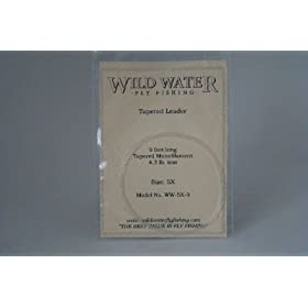 Wild Water Fly Fishing Tapered Leader-5X