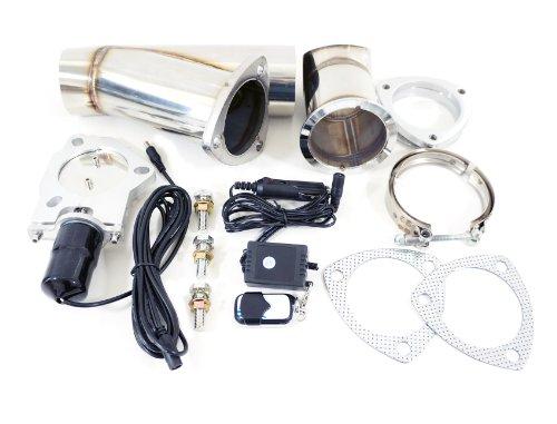 "3"" Inch Electric Exhaust Muffler Valve Cutout System Dump Wireless Remote"