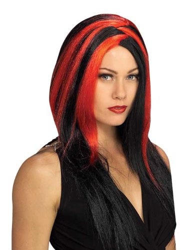 Rubie's Costume Miss Sinister Wig, Black/Red, One Size