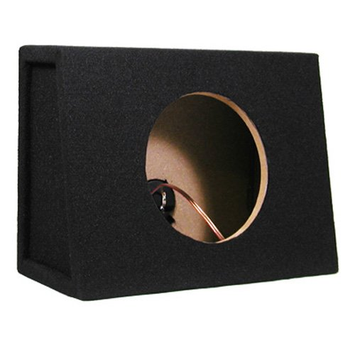 Single Car Truck Wedge Black Subwoofer Box Sealed Enclosure For 8-Inch Woofer 8F